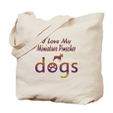 Miniature Pinscher designs Tote Bag