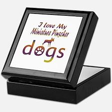 Miniature Pinscher designs Keepsake Box