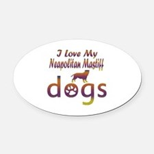 Neapolitan Mastiff designs Oval Car Magnet