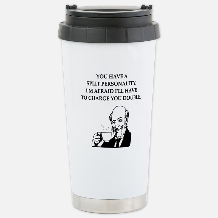 psycho Stainless Steel Travel Mug