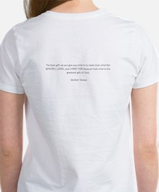 Football Mom with quote on back Women's T-Shirt