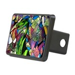 Mystic Dragon in Stained Glass Rectangular Hitch C