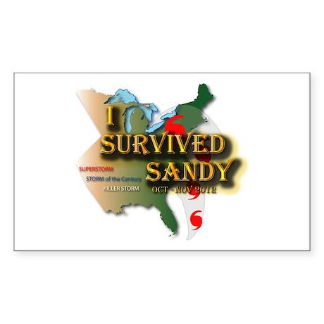 I Survived Sandy Sticker (Rectangle)