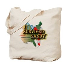 I Survived Sandy Tote Bag