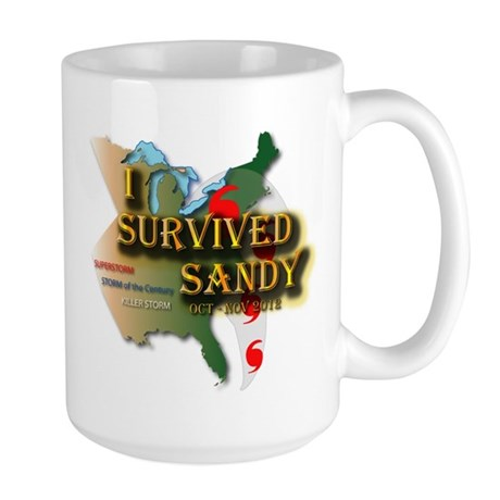 I Survived Sandy Large Mug