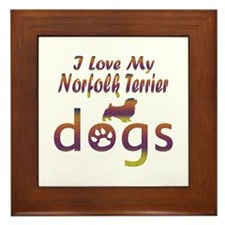 Norfolk Terrier designs Framed Tile