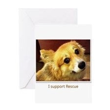 I Support Rescue Greeting Card