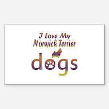 Norwich Terrier designs Decal