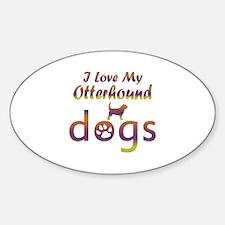 Otterhound designs Sticker (Oval)