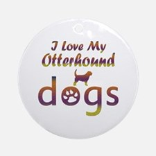 Otterhound designs Ornament (Round)