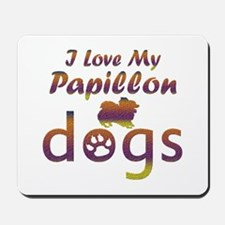 Papillon designs Mousepad