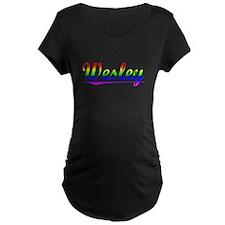 Wesley, Rainbow, T-Shirt