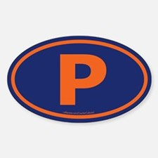 """""""P"""" Euros Oval Decal"""