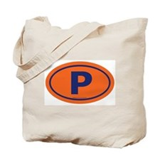"""P"" Euros Tote Bag"
