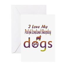 Polish Lowland Sheepdog designs Greeting Card