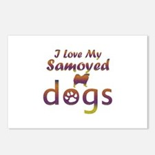 Samoyed designs Postcards (Package of 8)