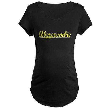 Abercrombie, Yellow Maternity Dark T-Shirt