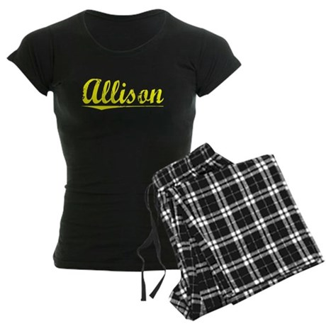 Allison, Yellow Women's Dark Pajamas