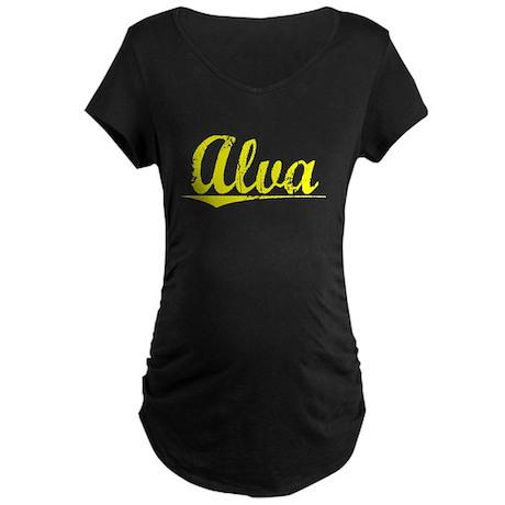 Alva, Yellow Maternity Dark T-Shirt