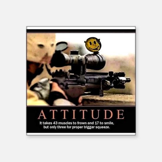 """Sniper Attitude Square Sticker 3"""" x 3"""""""
