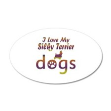 Silky Terrier designs Wall Decal