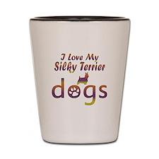 Silky Terrier designs Shot Glass