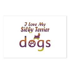 Silky Terrier designs Postcards (Package of 8)