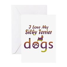 Silky Terrier designs Greeting Card