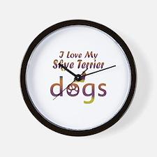 Skye Terrier designs Wall Clock