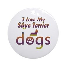 Skye Terrier designs Ornament (Round)