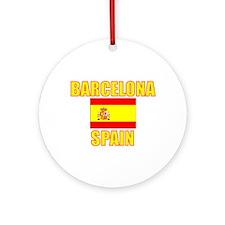 Unique Barcelona spain Ornament (Round)