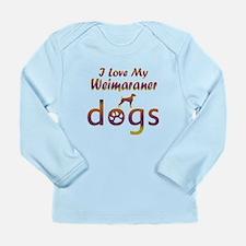 Weimaraner designs Long Sleeve Infant T-Shirt