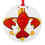 Original Fleur De Craw Round Ornament