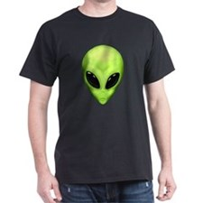 Alien Face Black T-Shirt