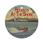 Holidays at the Shore Ornament (Round)