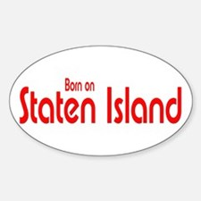 Born on Staten Island Oval Decal