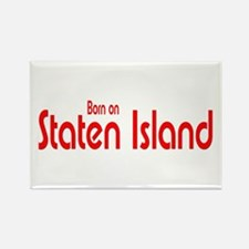 Born on Staten Island Rectangle Magnet (100 pack)