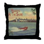 JerseyShoreHolidaySq.jpg Throw Pillow