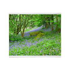 Bluebell Woods.jpg Throw Blanket