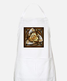 Norse Drinking Horn Valknut Apron