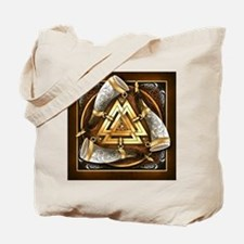 Norse Drinking Horn Valknut Tote Bag