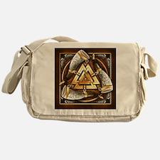 Norse Drinking Horn Valknut Messenger Bag