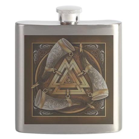 Norse Drinking Horn Valknut Flask