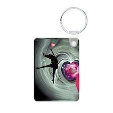 I Love to Dance Aluminum Photo Keychain