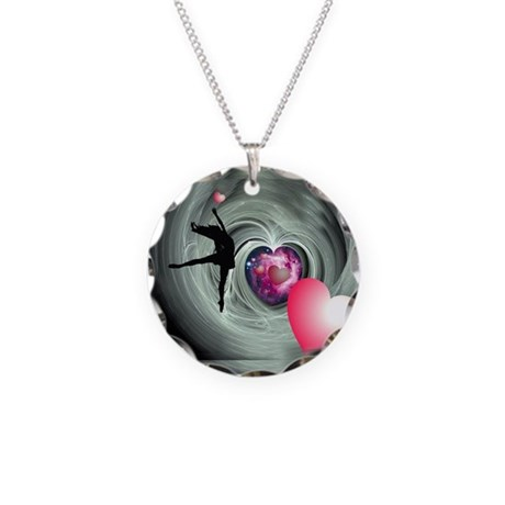 I Love to Dance Necklace Circle Charm
