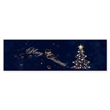 Blue Golden Christmas Bumper Sticker