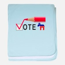 Politics Vote Obama 2012 baby blanket
