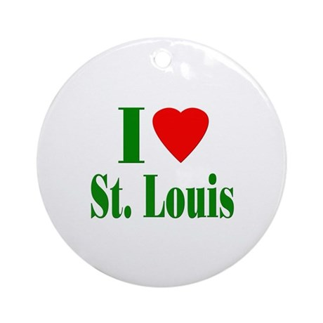 I Love St. Louis Ornament (Round)