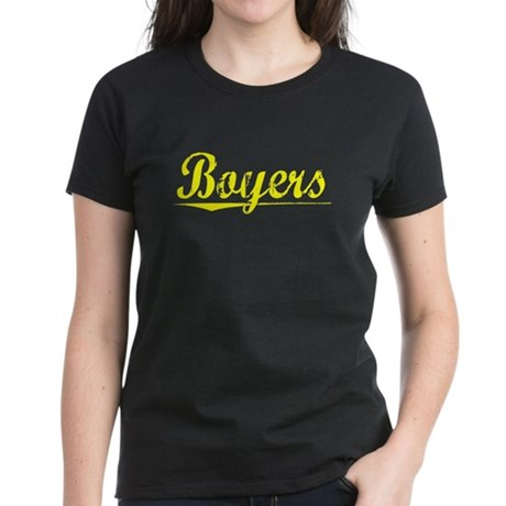 Boyers, Yellow Women's Dark T-Shirt