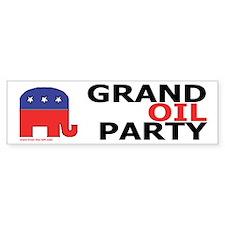 GOP | Grand Oil Party | anti-Republican Bumper Sticker